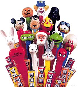 Pez candy dispensers - these are all Disney characters